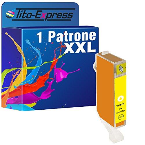 PlatinumSerie® 1 Druckerpatrone Tito-Platinum-Serie kompatibel für Canon CLI-521Y Yellow, 12 ml XL-Tinteninhalt mit Chip und Füllstandsanzeige, z.B. kompatibel für Canon Pixma IP 3600,Canon Pixma MP 990,Canon Pixma MP 630,Canon Pixma MP 620,Canon Pixma MP 540,Canon Pixma IP 4600 X,Canon Pixma MX 860,Canon Pixma MP 560,Canon Pixma MX 870,Canon Pixma IP 4700,Canon Pixma MP 640,Canon Pixma MP 550,Canon Pixma MP 640 R,Canon Pixma MP 980,Canon Pixma IP 4600