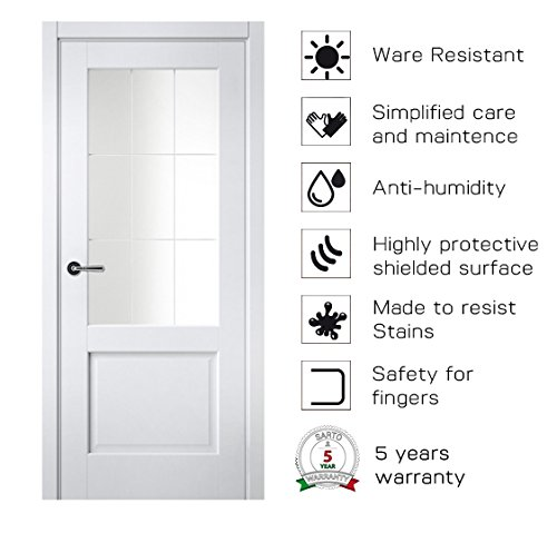 Sarto Galant 7122 Interior Door White Silk Satin Glass Province Glass 30