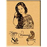 Women's Day Gifts - Engraved Wooden Plaque (5x4)