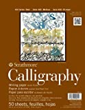 Strathmore 400 Series Tape Bound Calligraphy Pad 8 1/2 x 11 Inches Sheets, Pad of 50 (ST405-11)