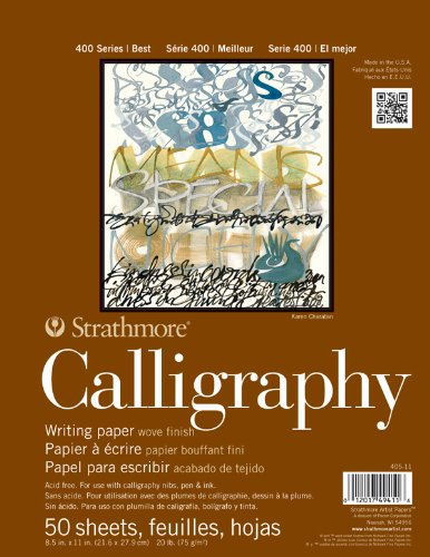 Strathmore STR-405-11 50 Sheet Tape Bound Calligraphy Pad, 8.5 by 11""