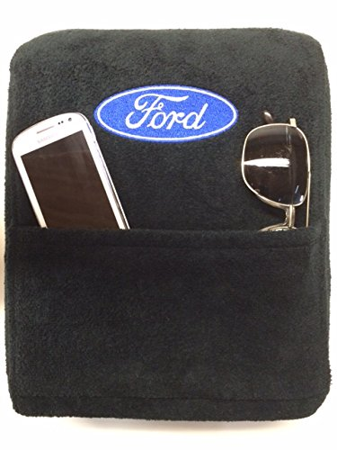 Seat Armour Officially Licensed Custom Fit Center Console Cover with Ford Embroidered Logo for Select Ford F-150 Models - (Black) (Custom Center Console compare prices)