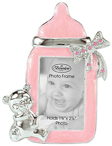 Brownlow Kitchen Baby Girl Bottle Frame, Pink