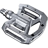 Shimano Multi-Use Flat Mountain Bike Pedals - PD-GR500 (Silver) (Color: Silver, Tamaño: One Size)