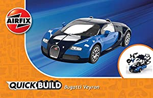 airfix quick build bugatti veyron car model kit toys games. Black Bedroom Furniture Sets. Home Design Ideas