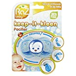 Razbaby Keep-it-Kleen Pacifier, Silicone, Orthodontic, 0-36 Months, 1 pacifier
