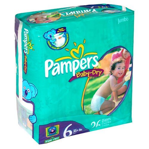 Pampers Baby Dry Diapers Jumbo Pack, Size 6, 26 Count