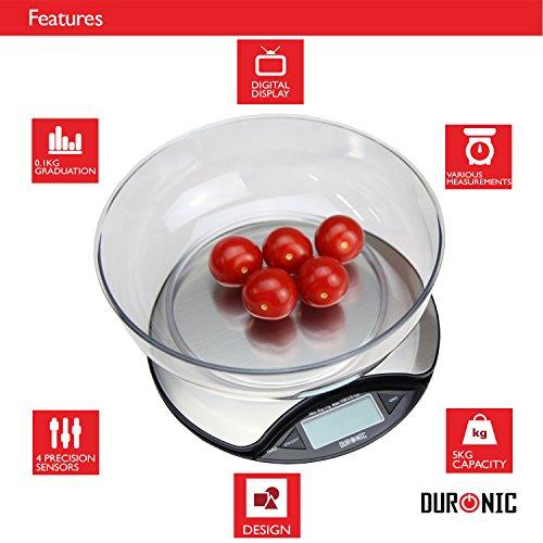 Duronic ks3000 bilancia piatta da cucina in acciaio inox for Prezzo acciaio inox al kg