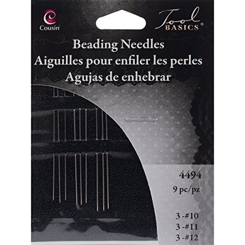 Cousin Jewelry Basics 9-Piece Beading Needle Assortment