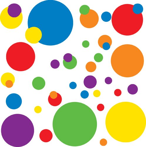 RoomMates RMK1248SCS Just Dots Primary Colors Peel & Stick Wall Decals