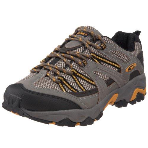 Hi-Tec Athletic Men's Mohabi Trail Running Shoe,Grey/Black/Yelllow,11 M US