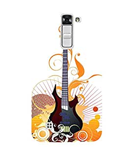 Graphical Guitar Stand 3D Hard Polycarbonate Designer Back Case Cover for LG K7 4G Dual
