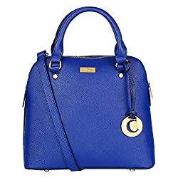 Cathy London Women's Handbag, Material- Synthetic Leather, Colour- Blue