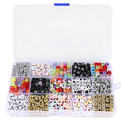 Alphabet beads Acrylic Letters Beads Mixed Beads for DIY Loom Bands Bracelets (Alphabet Beads For Jewelry Making compare prices)