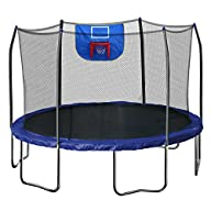 Skywalker Trampolines  12-Feet Jump N' Dunk Trampoline with Safety Enclosure and Basketball…