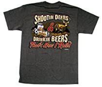 Hunting T-shirt Shootin Deers Drinkin Beers It's How I Roll M-XXL