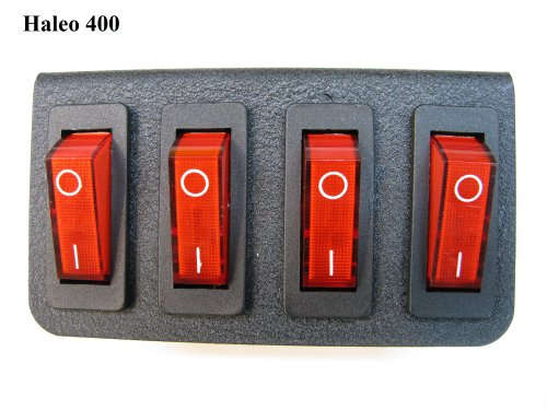 Feniex Industries C-1040 Haleo 400 4 Red Lighted Switch Panel