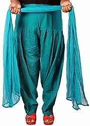 Tinnu G Women's Cotton Salwar and Dupatta Set (TGCSD1104_Sea Green_Free Size)