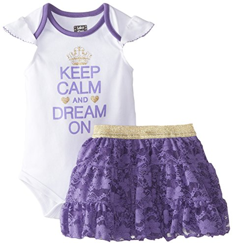 Baby glam baby girls keep calm and dream on girls 2 piece skirt set passion flower 18