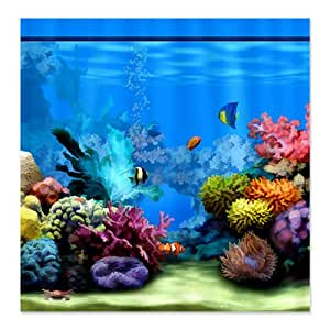Cafepress tropical fish aquarium with bright for Tropical fish shower curtain