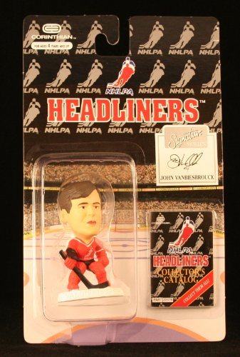 JOHN VANBIESBROUCK / NHLPA SIGNATURE SERIES * 3 INCH * 1996 NHL Headliners Hockey Collector Figure