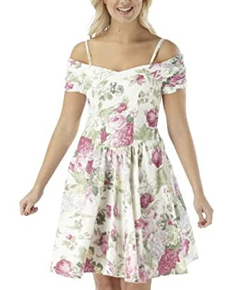 Joe Browns Damen Romantisches Rosedruck Kleid Cremefarben Geblümt (36)