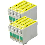 AA+inks Compatible Ink Cartridges Replacement for Epson 8 T0714/TO714 ET0714 (Yellow Printer inK)