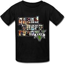 SIANDA Kid39s GTA V Grand Theft Auto Game Logo Unisex T-Shirts