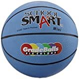 School Smart Gradeballs Rubber Basketball - Mini 11 inch - Blue