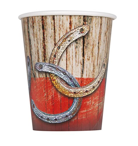 9oz Rodeo Western Party Cups, 8ct