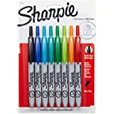 Sharpie Retractable Ultra Fine Point Permanent Markers, 8 Colored Markers (1742025)