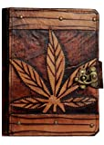 A little Present Marijuana Leaf On A Vintage Leather Cover Case for Kindle 4/5/Kindle Paperwhite/Kindle