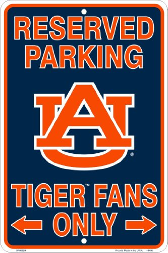 Auburn Tigers Fans Parking Only Metal Sign 8 x 12 embossed at Amazon.com