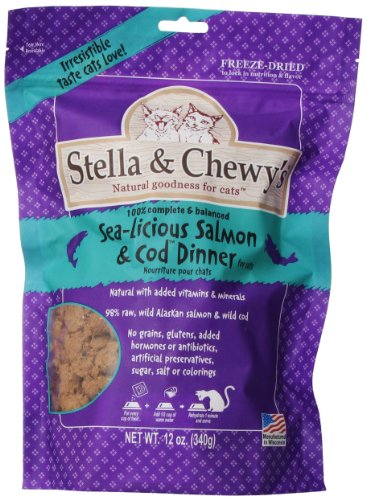 Stella & Chewy'S Freeze Dried Salmon/Cod Food For Cat, 12 Ounce