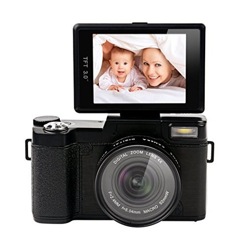 inkint-240-Megapxeles-30-Pulgadas-TFT-Cmara-Rotacin-de-Vdeo-de-Alta-Definicin-1080P-Digital-Cameras-de-Funcin-Antivibracin-Electrnica-24MP-Zoom-Digital-4x-Digital-con-Lente-Gran-Angular-180-Grados-con