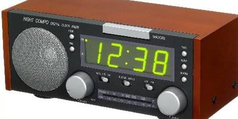クラシックタイプ目覚まし時計付きFM/AMラジオ