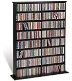 Prepac BMA-0640 Double Width Wall Media Storage Rack (Black)