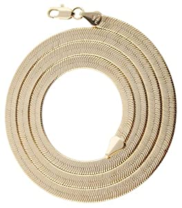 2 Pieces of Goldtone 5mm 20 Inch Herringbone Chain Necklace