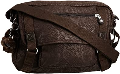 Kipling Womens Gracy Shoulder Bag Brown Snake K10909
