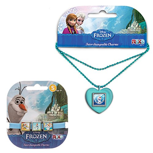 Disney Frozen Olaf Charm Necklace and Silicone Bracelet with 3 Charms - Ages 3+ (SM)