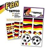 Fan Tattoo Deutschland, verschiedene Designs