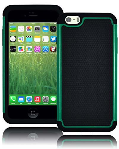 "Bastex Hybrid Deluxe Teal Shock Armor Case For Apple Iphone 6 Plus, 5.5"" 6Th Generation front-1036833"