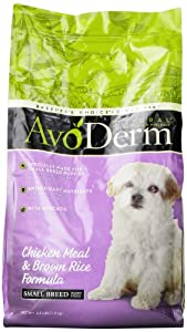 AvoDerm Natural Chicken Meal and Brown Rice Formula Small Breed Puppy Food, 3.5-Pound