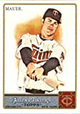 2011 Topps Allen & Ginter GLOSSY Edition Baseball Card (#'d out of 999) #350 Joe Mauer SP Minnesota Twins In a