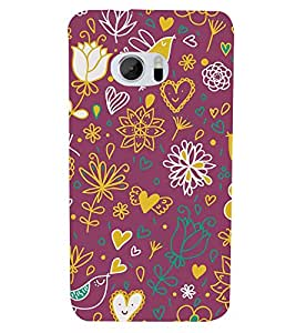 Love Bird 3D Hard Polycarbonate Designer Back Case Cover for HTC One M10 :: HTC M10