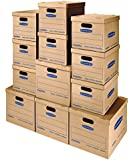 Bankers Box SmoothMove Classic Moving Box Kit, Small/Med, 12 Pack (7716401)