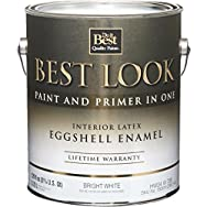 Best Look Interior Latex Eggshell Paint And Primer In One Enamel-INT EGG BRIGHT