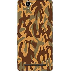 Casotec Camouflage Design Hard Back Case Cover for Sony Xperia T2 Ultra