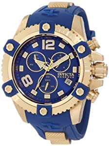 Invicta Men's 11173 Arsenal Reserve Chronograph Blue Dial Blue Polyurethane Watch