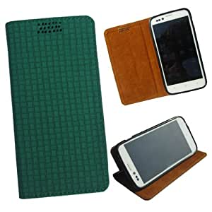 i-KitPit - New Design PU Leather Flip Case For Lava Xolo Q800 (GREEN)